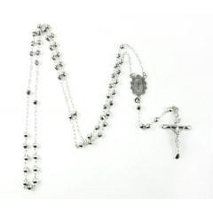 10k White Gold Rosary Dia...