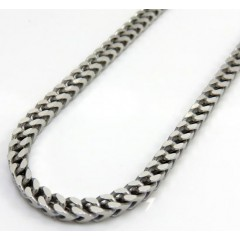 925 White Sterling Silver Solid Franco Chain 18-26 Inches 2.5mm