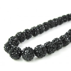 Black Rhinestone Macramé Bead Black Rope Chain 50.00ct