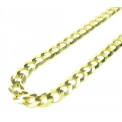 10k Yellow Gold Cuban Chain 24-26 Inch 5.75mm