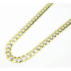 10k Yellow Gold Diamond Cut Cuban Chain 26-36 Inch 4.75mm