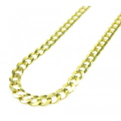10k Yellow Gold Solid Cuban Chain 18-30 Inch 3.80mm