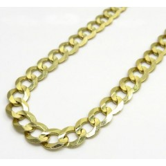 10k Yellow Gold Cuban Chain 26-36 Inch 8.5mm