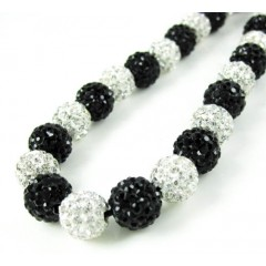 Black & White Rhinestone ...