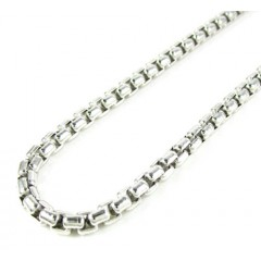 925 White Sterling Silver Box Link Chain 16 Inch 3.5mm