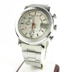 Mens Gucci Chronograph White Stainless Steel Watch