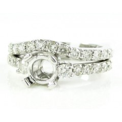 Ladies 14k White Gold Rou...