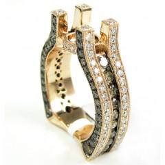 Ladies 14k Rose Gold Champagne & White Diamond Semi Mount Ring 3.19ct