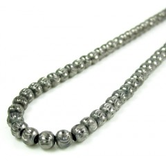 925 black sterling silver typhoon cut ball chain 20 inch 4mm