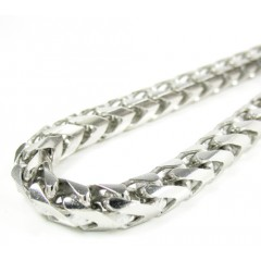 10k White Gold Solid Franco Link Bracelet 8.75 Inches 5.25mm