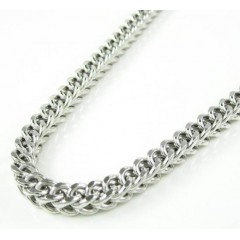 10k White Gold Franco Hollow Link Chain 36 Inch 4.75mm