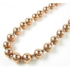 925 Rose Sterling Silver Ball Link Chain 36 Inch 6mm