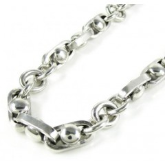 925 White Sterling Silver Anchor Link Chain 24 Inch 8.85mm