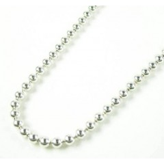 925 White Sterling Silver Ball Link Chain 36 Inch 2.5mm