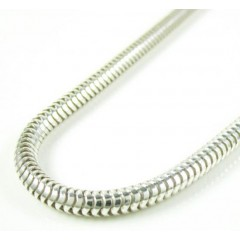 925 White Sterling Silver Snake Link Chain 30 Inch 3.2mm