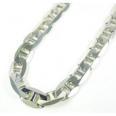 925 Sterling Silver Anchor Link Chain 36 Inch 11.75mm