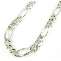 925 Sterling Silver Figaro Link Chain 36 Inch 7.40mm