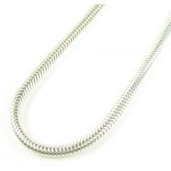 925 White Sterling Silver Snake Link Chain 30 Inch 3.25mm
