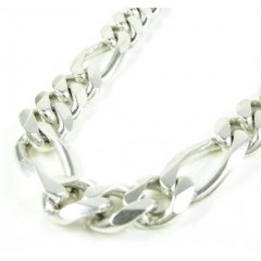 925 Sterling Silver Figaro Link Chain 34 Inch 11mm