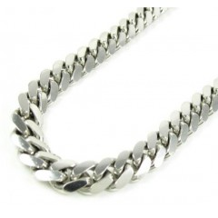 925 Sterling Silver Miami Link Chain 36 Inch 7mm