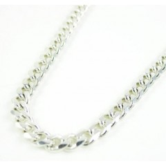 925 Sterling Silver Miami Link Chain 30 Inches 3.60mm