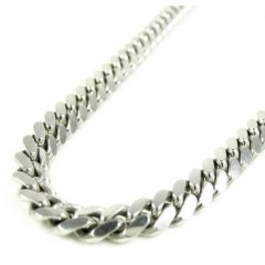925 Sterling Silver Miami Link Chain 20-30 Inches 5mm