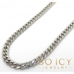 925 Sterling Silver Miami Link Chain 18-30 Inches 4mm