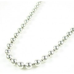 925 White Sterling Silver Ball Link Chain 36 Inch 3mm