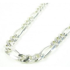 925 Sterling Silver Figaro Link Chain 30 Inch 4.10mm