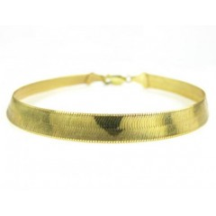 10k Yellow Gold Herringbone Bracelet 7 Inch 5.80mm