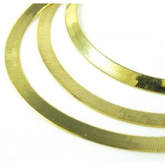 10k Yellow Gold Herringbone Chain 16-24 Inch 2.70mm