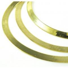 10k Yellow Gold Herringbone Chain 16-24 Inch 2.70mm