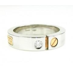 Baraka 18k Rose & White Gold Diamond Wedding Band 0.08ct