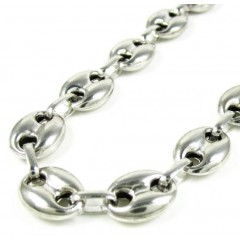 925 White Sterling Silver Gucci Link Chain 36 Inch 11mm