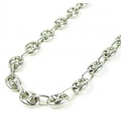 14k White Gold Gucci Link Chain 22 Inch 4.80mm