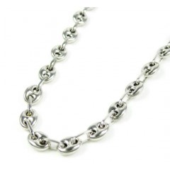 14k White Gold Gucci Link Chain 20 Inch 4.10mm