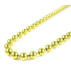 14k Yellow Gold Smooth Ball Link Chain 24 Inch 4mm