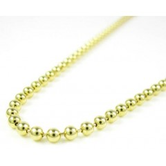 14k Yellow Gold Smooth Ball Link Chain 20-26 Inch 2.5mm