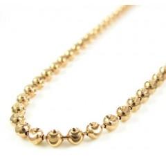 14k Rose Gold Diamond Cut Ball Link Chain 16-20 Inch 2.5mm