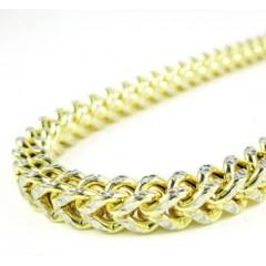 10k Yellow Gold Diamond Cut Franco Link Chain 26-36 Inch 5.2mm