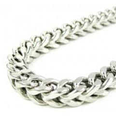10k White Gold Franco Link Chain 26-36 Inch 6.5mm