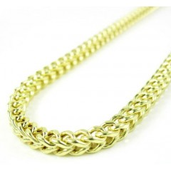 10k Yellow Gold Smooth Cut Franco Link Chain 26-40 Inch 3.5mm