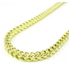10k Yellow Gold Smooth Cut Franco Link Chain 18-30 Inch 2.75mm