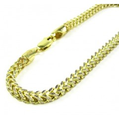 10k Yellow Gold Diamond Cut Franco Bracelet 8 Inch 3.4mm