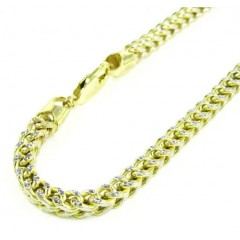 10k Yellow Gold Diamond Cut Franco Bracelet 9 Inch 4.1mm