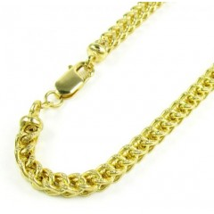 10k Yellow Gold Diamond Cut Franco Bracelet 9 Inch 4.25mm