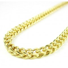 14k Yellow Gold Smooth Cut Franco Link Chain 20-36 Inch 3.75mm