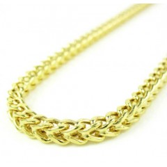 14k Yellow Gold Smooth Cut Franco Link Chain 22-34 Inch 3mm