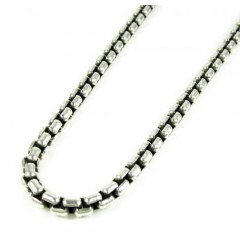 925 Sterling Silver Box Link Chain 30 Inch 4mm