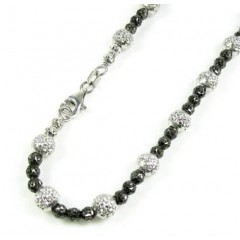 14k Black & White Gold Di...